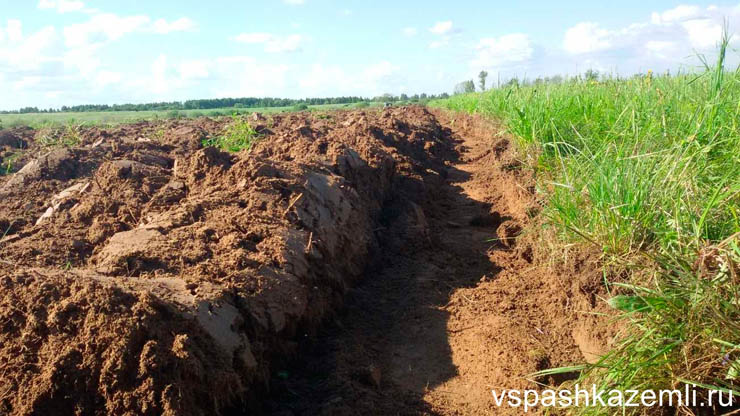 Результат вспашки почвы