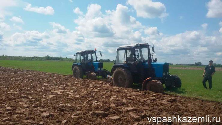 Вспашка земли трактором авито